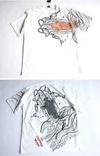 NWT only one! japanese brand wave to carp tatoo mens tee t-shirt japan WHITE