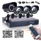 4CH 960H Surveillance DVR 700TVL Night Vision CCTV Outdoor IP66 Security Camera