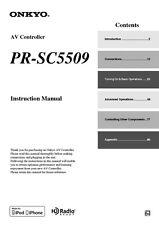 Onkyo Integra PR-SC5509 AV Controller Owners Instruction Manual