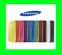New Authentic Samsung Galaxy S4 Flip Cover Black White Pink Blue Folio Case