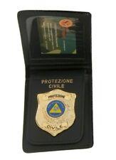 Portafoglio con Placca Estraibile Protezione Civile Volontariato in pelle