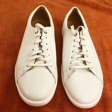 Cole Haan Grand OS Crosscourt II Mens Size 9.5 M White Leather Shoes Sneakers
