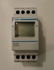 Hager EG 203  2 Channel Programmable Time Switch 7 day 230v 16Amp Rated.  USED