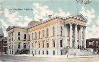 C12/ Belleville Illinois Il Postcard 1907 Court House Building