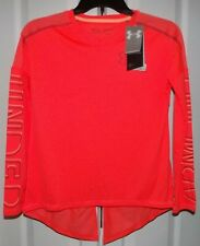 Under Armour Girls Youth Top L/S Shirt NWT Orange Size Large