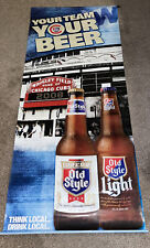 Chicago Cubs 2008 Rare Vintage New Old Style Beer 24� x 58� Banner Sign hat logo