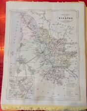 Old Map 1900 France Département Gironde Bordeaux  Bazas Pauillac Blaye Sauterne