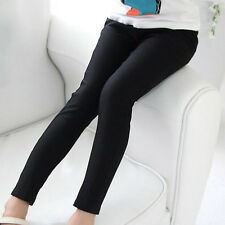 Kids Girl Stretch Skinny School Pants Casual Trousers Leggings Tight Pencil Pant