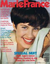 ▬►MARIE FRANCE 404-1989 CATHERINE DENEUVE_CAROLE BOUQUET_NANA MOUSKOURI_MODE