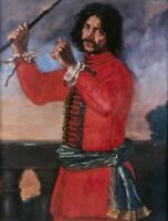 """perfect 24x36 oil painting handpainted on canvas""""the court jester """"@1377"""