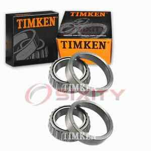 2 pc Timken Rear Differential Bearing Sets for 1985-1986 Chevrolet C30 fd