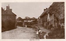 Manton Village Nr Marlborough unused RP old pc Maynard