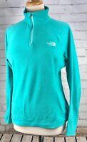 THE NORTH FACE Half Zip Pullover Fleece Jacket Top TKA100 Women's Medium Teal