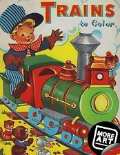 Trains to Color : A Vintage Coloring Book from Artimorean Studios by Eric...