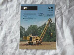 CAT Caterpillar 589 pipelayer brochure