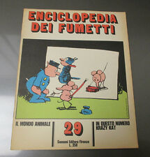 1970 ENCICLOPEDIA DEI FUMETTI Italian Comic Cartoon Magazine 20 pgs #29 FN+