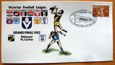 100 X VIC FOOTBALL LEAGUE 1982 GRAND FINAL FIRST DAY COVER- RICHMOND Vs CARLTON