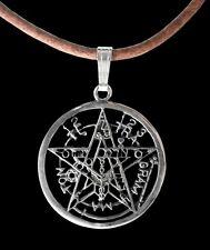 Sterling Silver Esoteric Pentagram Pendant - Small Tetragrammaton - Necklace