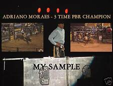 "NEW ADRIANO MORAES PBR PRO BULL RIDING COLLAGE 8"" by 10"" PHOTO"