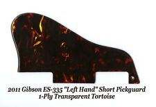 Gibson 2011 ES-335 LEFT HAND 1-Ply Tortoise Short Pickguard Guitar Project NEW