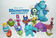 Disney Monsters University Figure Set of 12 with Mike, Sulley, Art Etc