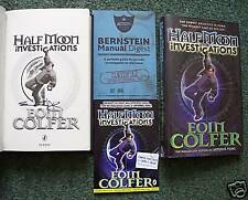 EOIN COLFER SIGNED HALF MOON INVESTIGATIONS +MANUAL NEW