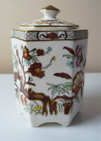 Vintage Mason's Patent Ironstone China TEA CADDY with Cover retailed by Harrod's
