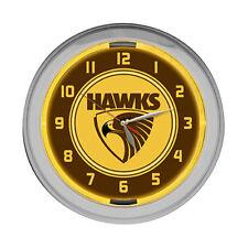 Hawthorn Hawks - Neon Wall Clock - AFL - Aussie Rules Football