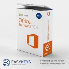 MS Microsoft Office 2016 Standard 1 PC Sofort per E-Mail