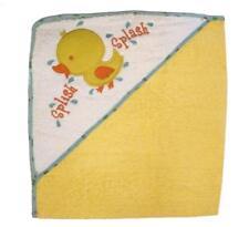 Baby Kids French Terry Hooded Bathtime Splish Splash Bath Towel 100% cotton