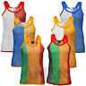 Mens/Unisex AMIR String Vest 2 Tone Tank Top Summer Premium 100% Cotton Top M-XL