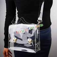 Moda PVC Bolsa claro transparente del bolso de hombro del bolso de Crossbody