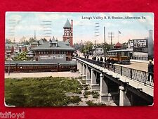 1915 Allentown PA LeHigh Valley Railroad Station Postcard