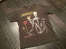 NIRVANA INSECTICIDE RARE BLACK 1994 VINTAGE SHIRT KURT COBAIN tour concert  XL