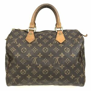 100% Authentic Louis Vuitton Monogram Speedy 30 Handbag M41526 [Used] {07-181C}