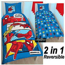 SPIDERMAN WEBHEAD SINGLE POLYCOTTON DUVET COVER SET KIDS OFFICIAL BEDDING NEW