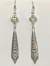 New Item* Hand-Crafted Vintage Egyptian Repousse' Silver Drop Earrings-New