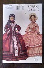 Vogue Historical Barbie Doll Clothes 7352 1840-50s Dress Hat Linda Carr Uncut