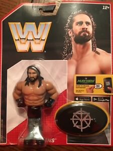 MATTEL WWE RETRO SERIES 3 SETH ROLLINS WRESTLING ACTION FIGURE MOC MONDAY RAW