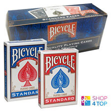 BICYCLE RIDER BACK NO FACE 12 DECKS BLANK MAGIC TRICKS CARDS RED AND BLUE USPCC