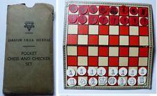 Jeux d'échec de poche WWII par canadian  YMCA  Pocket Chess YMCA overseas Canada