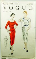 Vintage Vogue 8272 Sewing Pattern Slim Dress Factory Folded Sz 14/32 One Piece