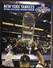 MLB 2010 YANKEES SPRING TRAINING PROGRAM DEREK JETER NEAR MINT
