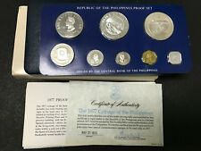 Philippines 1977 Franklin Mint Silver Proof Coin Set w/ Box & COA (Lot F)