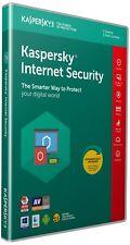 Kaspersky Internet Security 2018 1 user de détail FFP 1 an