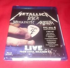 LOWEST PRICE NEW METALLICA The Big 4 Slayer MegaDeath Anthrax 2 Disc Blu-Ray Set