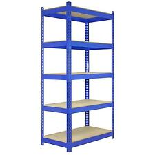 5 Racking Bays 90cm Warehouse Shelving Storage Garage Shelves Unit Steel 5 Tier