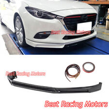 MK Style Front Bumper Lip (ABS) Fits 17-18 Mazda 3