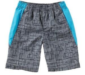 Under Armour Big Boys Gray & Blue Swim Short Size 10