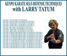 Kenpo Karate Self Defense Techniques (21) Dvd Set yellow to black belt